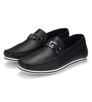 Alberto Guardian Blue Leather Stromboli Moccasins
