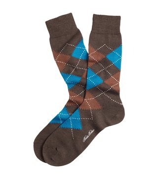 Brooks Brothers Brown Argyle Crew Socks