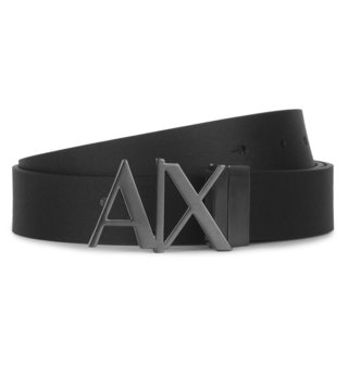 Armani Exchange Black Reversible Hinge Belt