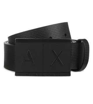 Armani Exchange Nero Inlay Logo Belt