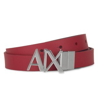 Armani Exchange Royal Red & Navy Reversible Hinge Belt