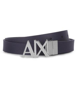 Armani Exchange Evening Blue & Black Reversible Hinge Belt