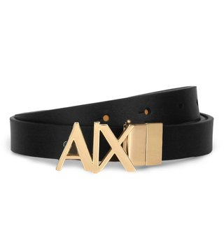 Armani Exchange Black & Tan Reversible Hinge Belt