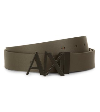 Armani Exchange Brown Cypress Reversible Hinge Belt
