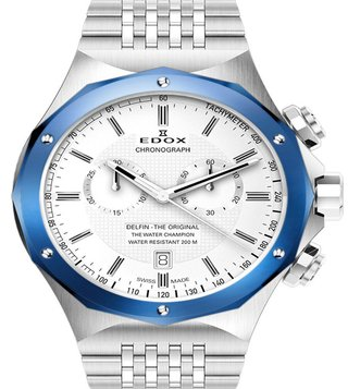 Edox 10108 3BU AIN Delfin Analog Watch for Men