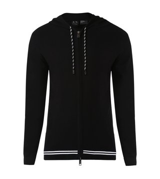 Armani Exchange Black Hodded Jacket