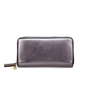 Armani Exchange Gunmetal Laminated Evening Clutches