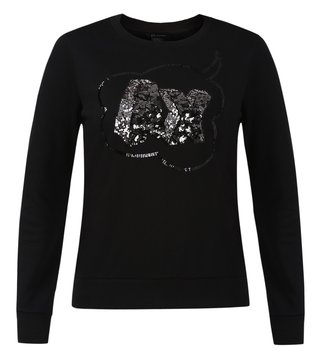 Armani Exchange Black Embellished Sweatshirt