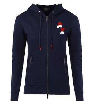 Armani Exchange Evening Blue Hoodie