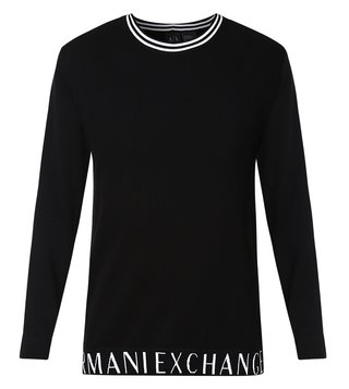 Armani Exchange Black Round Neck Pullover