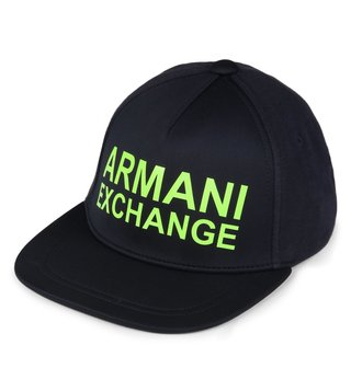 Armani Exchange Sky Captain Neon Yellow New Era Baseball Cap