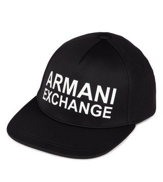 Armani Exchange Black White New Era Baseball Cap