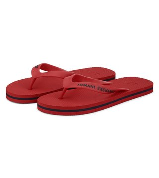 Armani Exchange Absolute Red Classic Flip-Flops