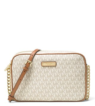 Michael Michael Kors Jet Set Vanilla Large Crossbody Bag