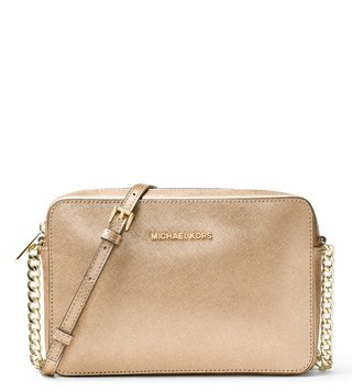Michael Michael Kors Jet Set Travel Pale Gold Crossbody Bag