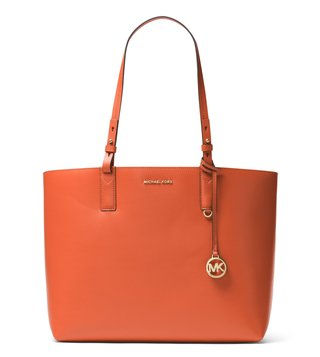 Michael Michael Kors Cameron Orange-Acorn Reversible Totes