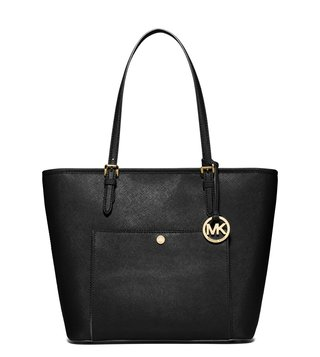 Michael Michael Kors Jet Set Item Black Large Leather Totes