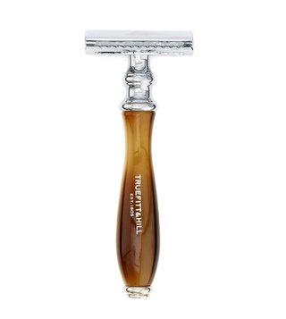 Truefitt & Hill Brown/DE Safety Razor/Chrome/Wellington