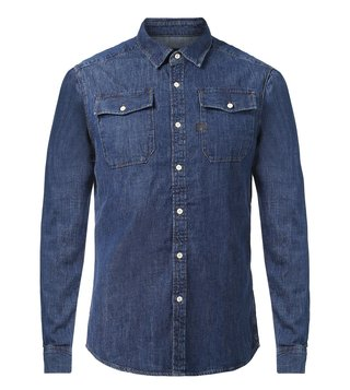 G-Star RAW Navy Landoh Deconstructed Shirt