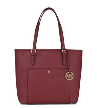 Michael Kors Jet Set Travel Mulberry Large Leather Totes