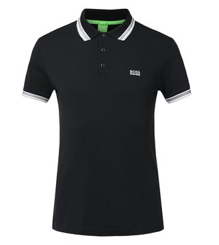 Boss Green Black Regular Fit Polo Paddy T-Shirt