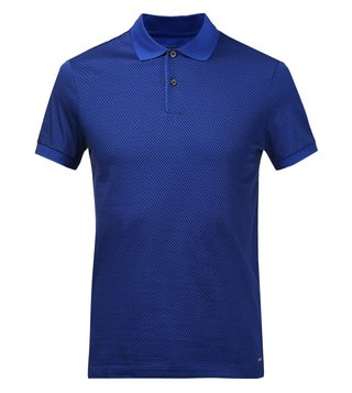 Hugo Boss Blue Slim Fit Open Polo Phillipson 18 T-Shirt
