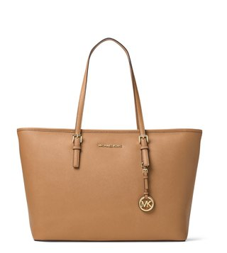 Michael Michael Kors Acorn Jet Set Travel Medium Tote Bag