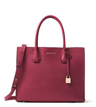 Michael Michael Kors Mulberry Mercer Large Leather Tote Bag