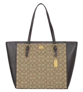Coach Turnlock Brown Tote Bag