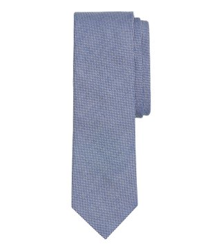 Brooks Brothers Red Fleece Blue Pindot Dobby Cotton Slim Tie
