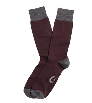 Brooks Brothers Red Fleece Burgundy Marled Color Wool Socks