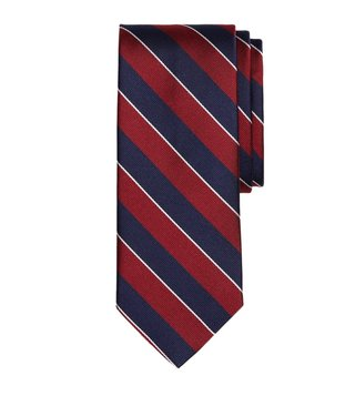 Brooks Brothers Red Sidewheeler Rep Striped Tie