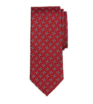 Brooks Brothers Red Embroidered Pinwheel Tie