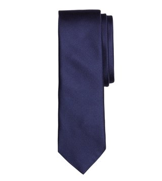Brooks Brothers Red Fleece Navy Silk Jacquard Slim Tie