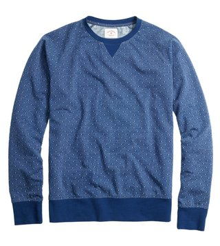Brooks Brothers Red Fleece Blue Dobby Dot Sweatshirt