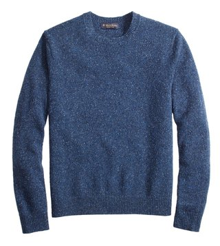 Brooks Brothers Blue Donegal Crewneck Sweater