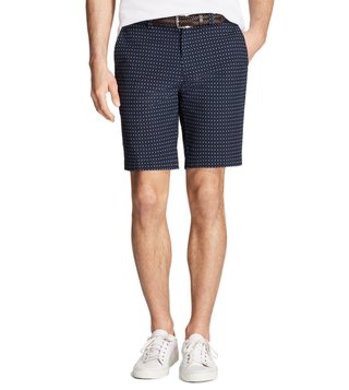 Brooks Brothers Red Fleece Navy Foulard Print Bermuda Shorts