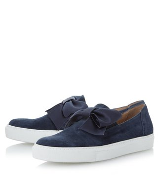 Dune London Navy Suede Emelia Sneakers