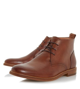 Dune London Tan Leather Magnus Chukka Boot