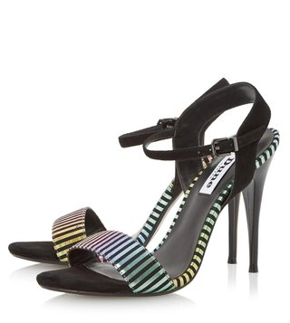 Dune London Hologram Metallic Misti Back Strap