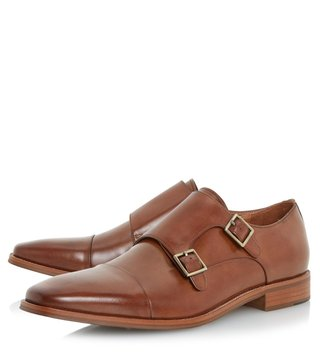 Dune London Tan-Leather Putney Monk