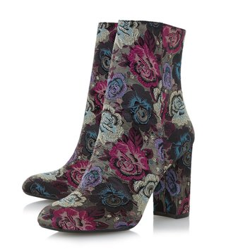 Dune London Multi-Fabric Oxford Booties