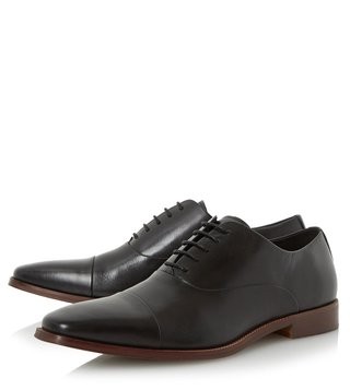 Dune London Black Leather Ravenswood Oxford Shoes