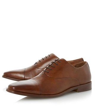Dune London Tan Leather Ravenswood Oxford Shoes