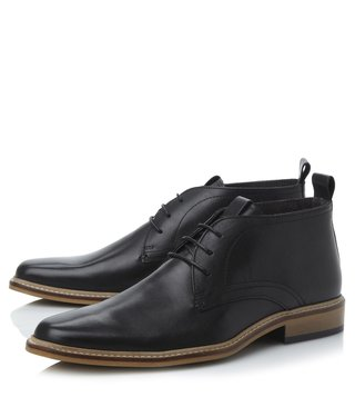 Dune London Black-Leather Montenegro Derby Boot
