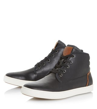 Dune London Black Synthetic Spacejam Sneakers