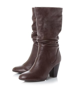 Dune London Dark Brown Rossy Cowboy Boot