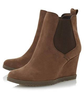 Dune London Taupe Nubuck Phillipe Chelsea Boot