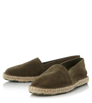 Dune London Khaki Suede Free Espadrille Shoes