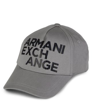 Armani Exchange Alloy Outline Logo Baseball Cap